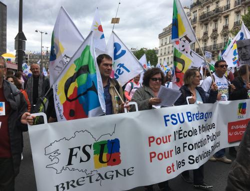 Pour notre École : la FSU Bretagne en force à Paris