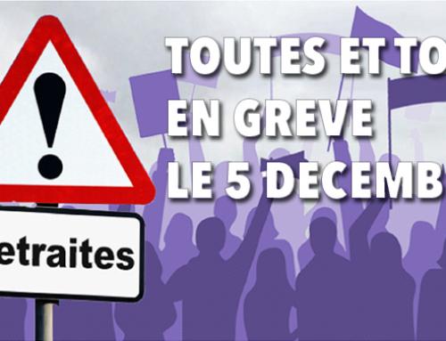 Grève du 5 décembre : toute la Bretagne dans la lutte (les lieux de rassemblements)